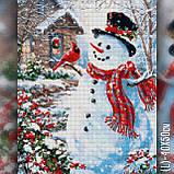 Алмазная вышивка Праздничный снеговик с птицей 40х50 The Wortex Diamonds (TWD70015), фото 2