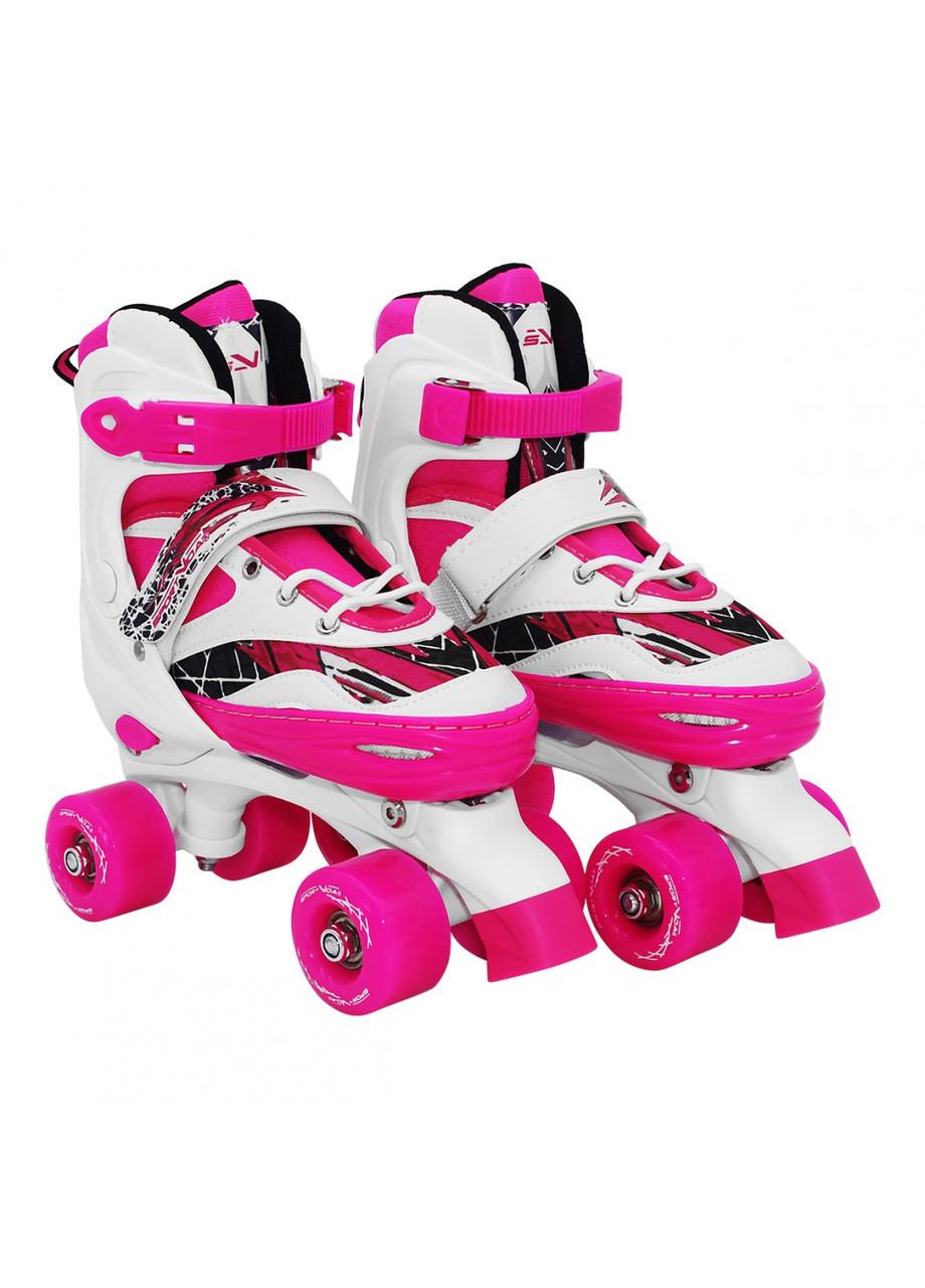 Роликовые коньки (квады) SportVida SV-LG0055 Size 35-38 White/Pink