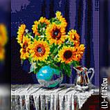 Алмазная вышивка Подсолнухи в вазе 2 40x50 The Wortex Diamonds (TWD10007L), фото 2
