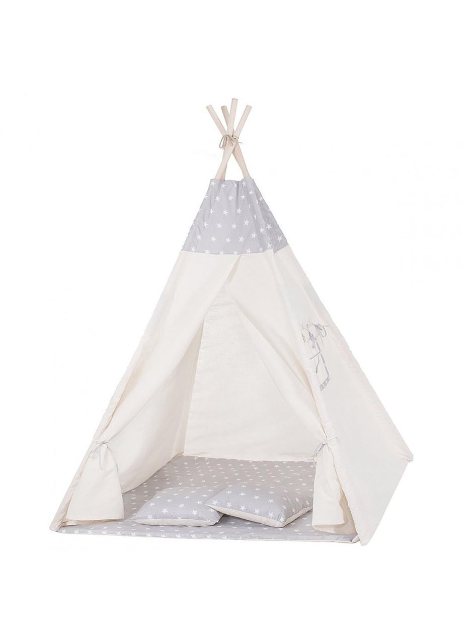 Детская палатка (вигвам) Springos Tipi XXL TIP07 White/Grey