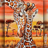 Алмазная вышивка Жирафенок с мамой 40x50 The Wortex Diamonds (TWD50005L), фото 2