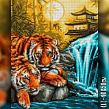 Алмазная вышивка Тигры у водопада 40x50 The Wortex Diamonds (TWD20024L), фото 2
