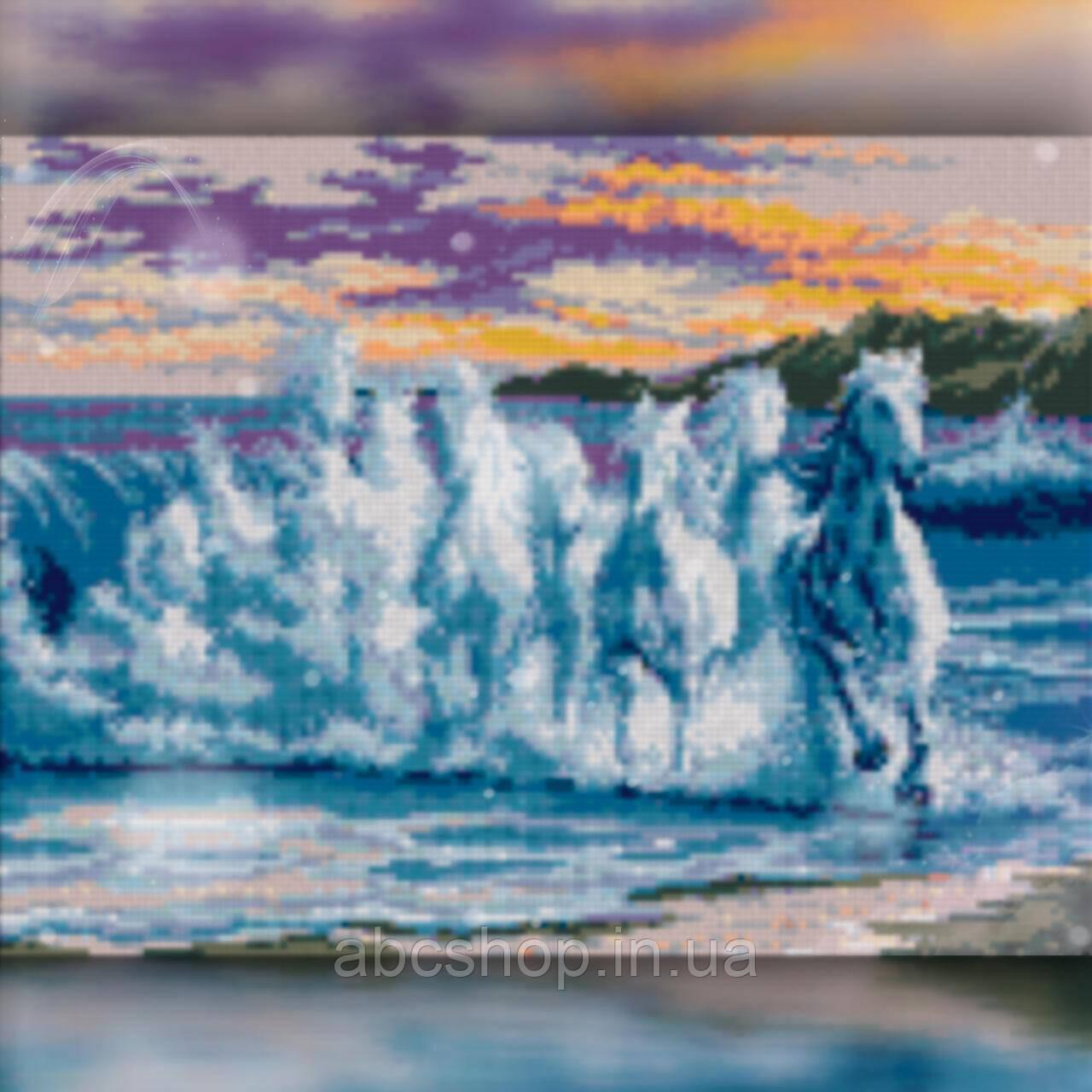 Алмазная вышивка Бег лошади 40x50 The Wortex Diamonds (TWD20027L)