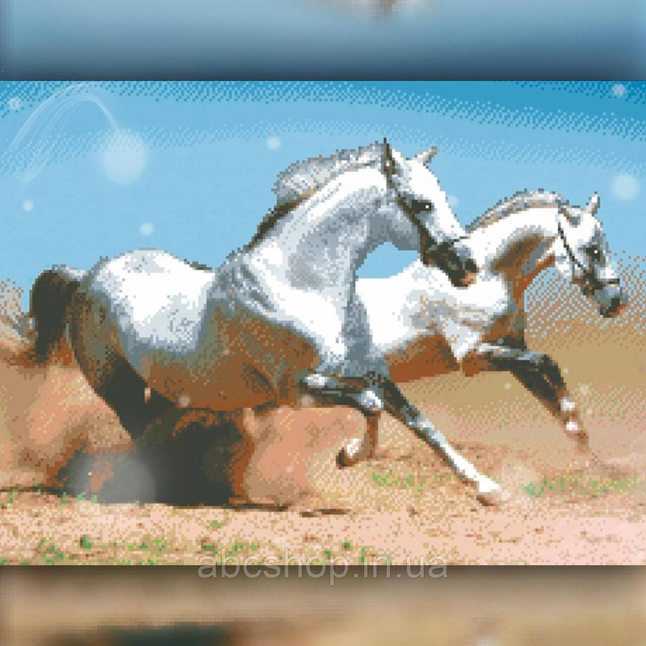 Алмазная вышивка Две лошади 40x50 The Wortex Diamonds (TWD20030L)