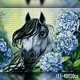 Алмазная вышивка Лошадь в цветах 40x50 The Wortex Diamonds (TWD20031L), фото 2