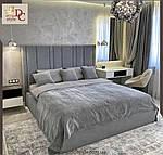 Ліжко Естер двоспальне 160х200, ортопедична еко шкіра, тканина. високе узголів'я. Під замовлення, фото 3