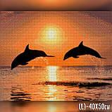 Алмазная вышивка Дельфины на закате 40x50 The Wortex Diamonds (TWD30019L), фото 2