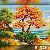 Алмазная вышивка Осенний пейзаж 40x50 The Wortex Diamonds (TWD30033L), фото 2