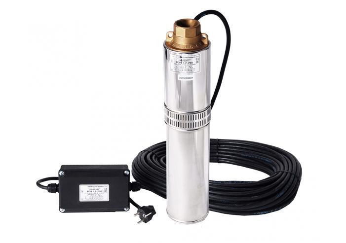 Погружной центробежный многоступенчатый скважинный насос Водолей БЦПЭ 0.32-40У  /каб. 25 м./