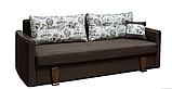 Прямой раскладной диван от производителя еврокнижка СМИЛА 1 Диван для повседневного сна Коричневый, фото 2