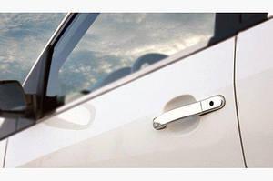 Накладки на ручки (4 шт, нерж.) OmsaLine - Итальянская нержавейка - Ford Fiesta 2002-2008 гг.