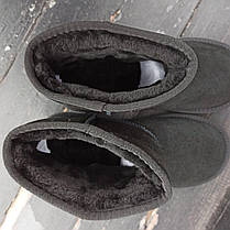 UGG Уггі жіночі укорочені низькі натуралки натуральні чорні замша замшеві, фото 2