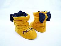 """Тапочки с бантиком детские """"Frozen"""" (р.24-33)"""