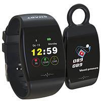 (УЦЕНКА) Фитнес браслет с возможностью работы в виде брелка Smart Band HP-P1 черный (094501)