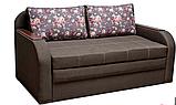 Небольшой диван-кровать для ежедневного сна РЕЛАКС. Диван 2-х местный выкатной  раскладной Коричневый малютка, фото 2