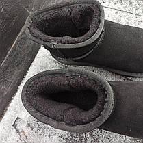 UGG Угги женские укороченные низкие натуралки натуральные черные замша замшевые, фото 3