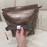 Женская классическая сумка Bronze из натуральной кожи, фото 2