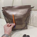 Женская классическая сумка Bronze из натуральной кожи, фото 3