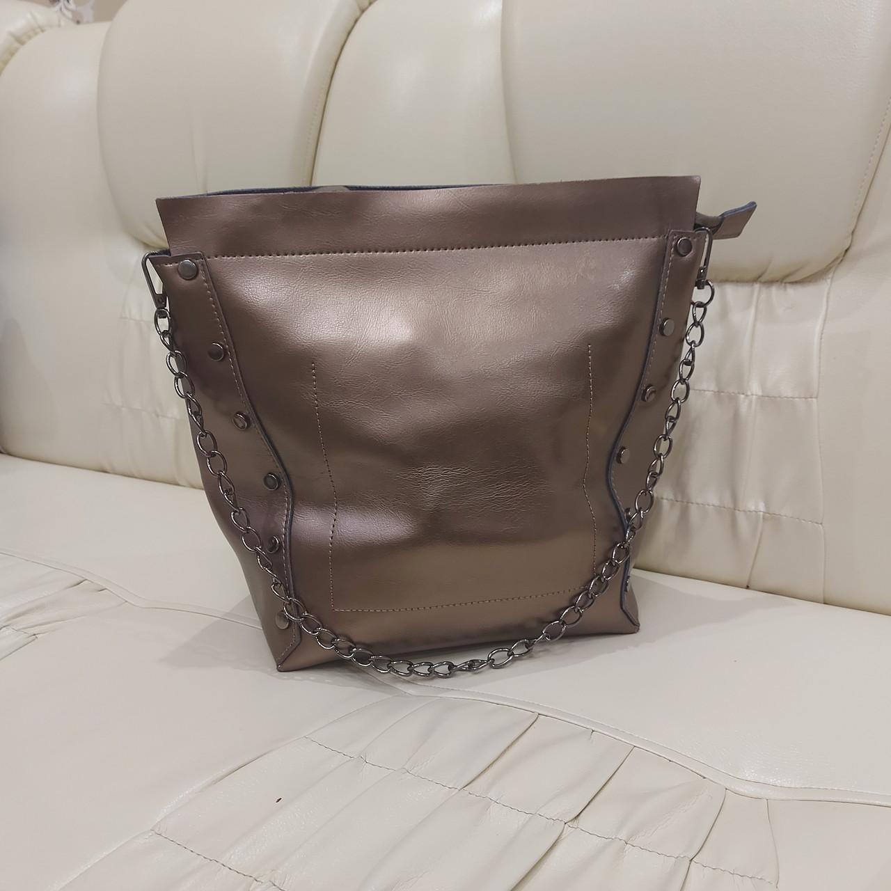 Женская классическая сумка Bronze из натуральной кожи