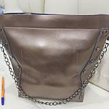 Женская классическая сумка Bronze из натуральной кожи, фото 4