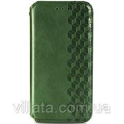 Кожаный чехол книжка GETMAN Cubic (PU) для Huawei P Smart (2021) / Y7a