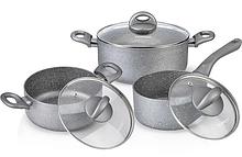 Кухонные кастрюли, наборы посуды