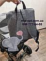 Детская коляска 2 в 1 Classik Len(Классик Лен) Victoria Gold  Графит серая, фото 6
