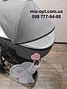 Детская коляска 2 в 1 Classik Len(Классик Лен) Victoria Gold  Графит серая, фото 4