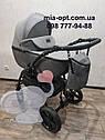 Детская коляска 2 в 1 Classik Len(Классик Лен) Victoria Gold  Графит серая, фото 2