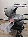 Детская коляска 2 в 1 Classik Len(Классик Лен) Victoria Gold  Графит серая, фото 8