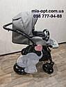 Детская коляска 2 в 1 Classik Len(Классик Лен) Victoria Gold  Графит серая, фото 10