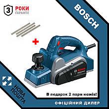 Рубанок электрический Bosch GHO 6500 (0601596000) + ножі до рубанку 82мм - 4шт.