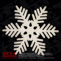 Снежинка d= 38 см с блестками подвесная