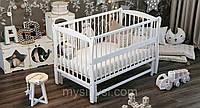 """ТМ Дубик-М """"Еліт"""" дитяче ліжечко. Колір: білий, фото 1"""