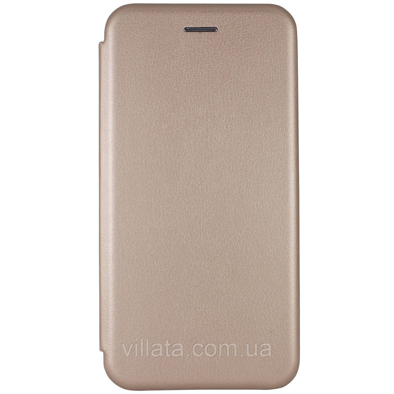 Classy кожаный чехол-книжка  для Xiaomi Redmi Note 8T Золотой