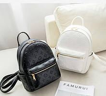Женский рюкзак в стиле Луи Витон Маленький женский рюкзачок на плечи, вместительный мини рюкзак сумка