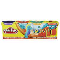 """Пластилин Play-Doh (Плей до) Тропики (Немо) Набор массы для лепки, 4 баночки по 140г,  """"Животные"""" Hasbro"""