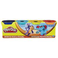 """Пластилин Play-Doh (Плей до) Тропики (Африка) Набор массы для лепки, 4 баночки по 140г,  """"Животные"""" Hasbro"""