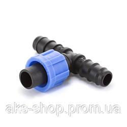 Тройник ёршик Presto-PS для капельной ленты и трубки 16 мм, в упаковке - 50 шт. (ВТ-021716)