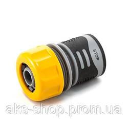 Коннектор Presto-PS для шланга 3/4 дюйма с аквастопом серия Soft-Touch, в упаковке - 30 шт. (4112T)
