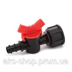 Кран шаровый Presto-PS с внутренней резьбой 3/4 дюйма для трубки 16 мм, в упаковке - 50 шт. (BF-011634)