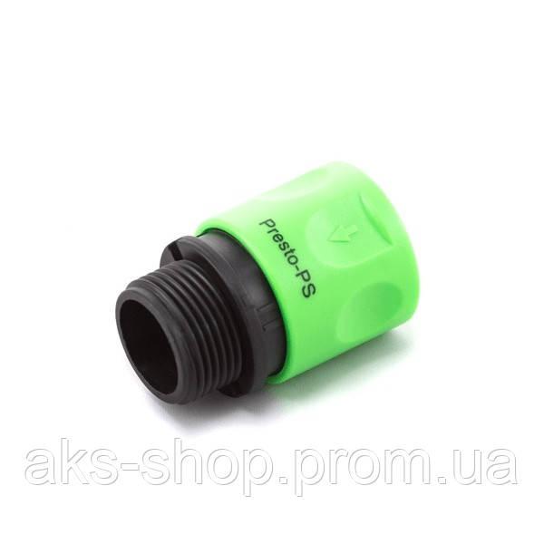 Коннектор Presto-PS с наружной резьбой 3/4 дюйма, в упаковке - 30 шт. (4020)