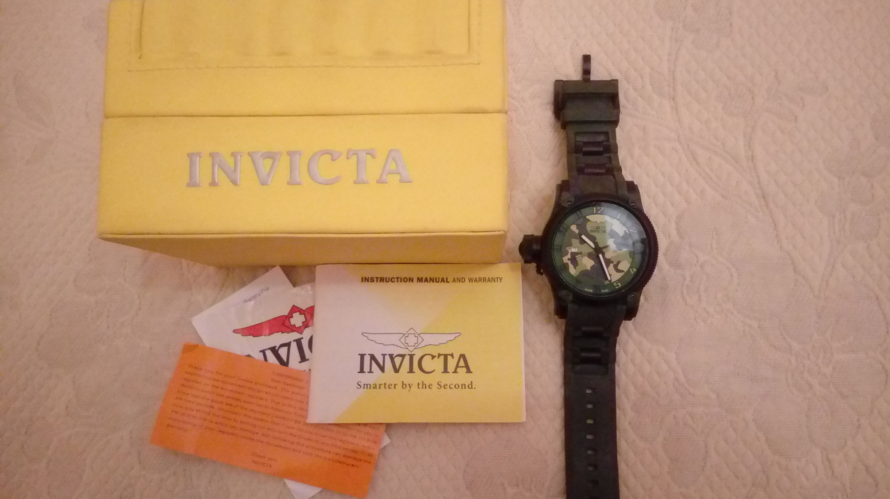 Швейцарские часы INVICTA 1197 RUSSIAN DIVER JUNGLE PREDATOR (LIMITED EDITION 5000 ШТ)