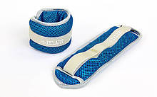 Утяжелители-манжеты водонепроницаемые planeta-sport FI-7210-1 2 x 0,5 кг Сине-серый, КОД: 1895216
