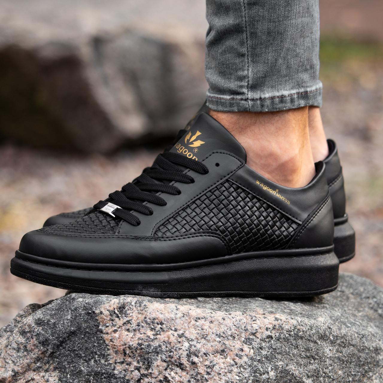 Мужские черные кроссовки Wagoon Чоловічі Кросівки Размер 44