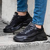 Мужские черные кроссовки в стиле Phillip Plein обувь мужская демисезонная обувь Размер 43,44, фото 1