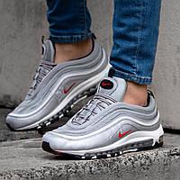 Мужские Кроссовки Nike Air Max 97 рефлективные серебристые демисезонная обувь, фото 1