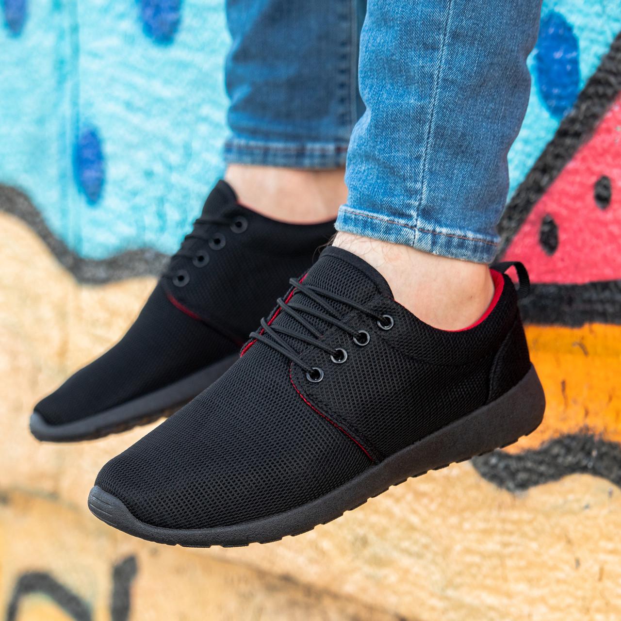 Мужские черные кроссовки на черной подошве Размеры 42,43,44,45