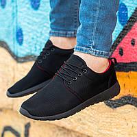 Мужские черные кроссовки на черной подошве Размеры 42,43,44,45, фото 1