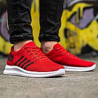 Мужские красные кроссовки на белой подошве Размеры 40,42,45, фото 1